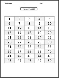 1 50 number chart grid 001