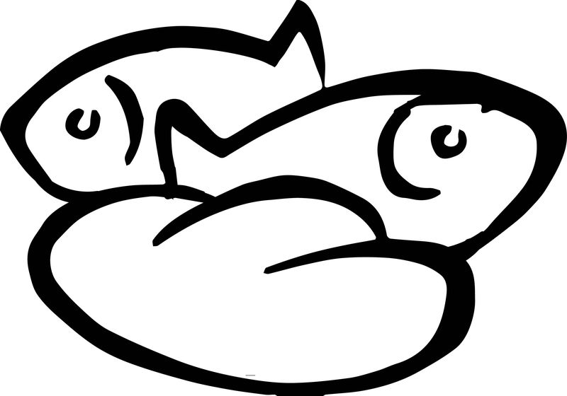 1 Loaves And 2 Fish Coloring Page