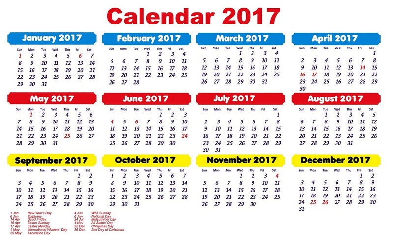 1 Page Calendar Picture