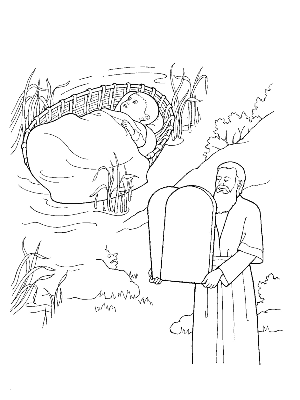 10 commandments coloring pages Collection-Moses 10 mandments Coloring Page 19-t