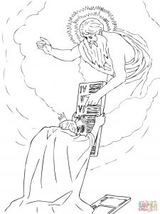 10 Commandments Coloring Pages - 32 Moses Receiving the Tablets Gebhard Fugel Coloring Page Greatest Mandment 8k