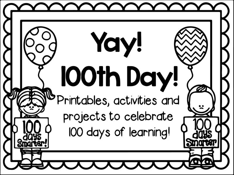100th Day Of School Yay Coloring Page
