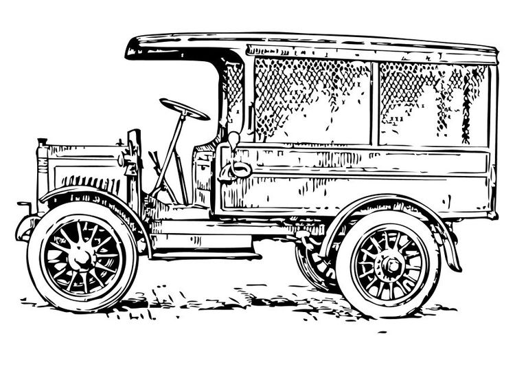 1910s Truck Car Coloring Pages