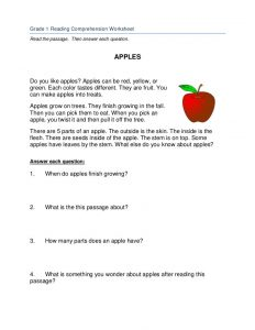 1st grade reading worksheet 1