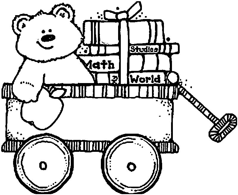 1st Grade School Bear Toy Coloring Page