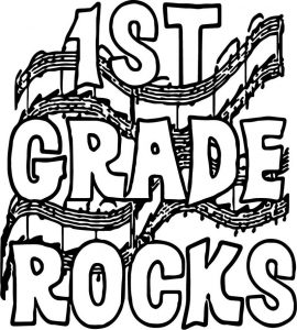 1st grade school rocks coloring page