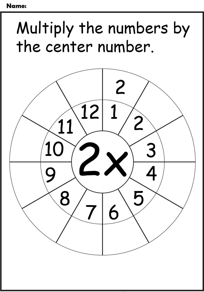 2 Times Table Worksheets Download
