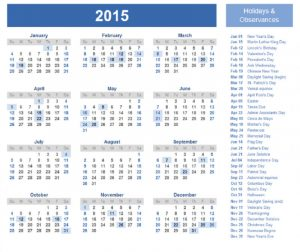 2015 yearly calendar with holidays 3 001