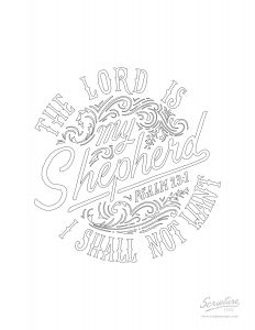 23rd Psalm Coloring Pages - Unsurpassed Psalm 23 Coloring Page Pages Bltidm 18g