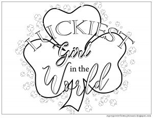 23rd Psalm Coloring Pages - My Cup Overflows Luckiest Girl In the World Coloring Page 6s