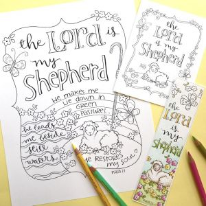 23rd Psalm Coloring Pages - Psalm 23 Bible Journaling Printable Coloring Collection Sale 16s