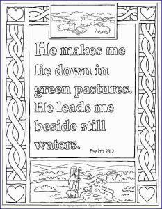23rd Psalm Coloring Pages - Psalms In Color Coloring Book Pretty Psalm 23 Coloring Pages 8i