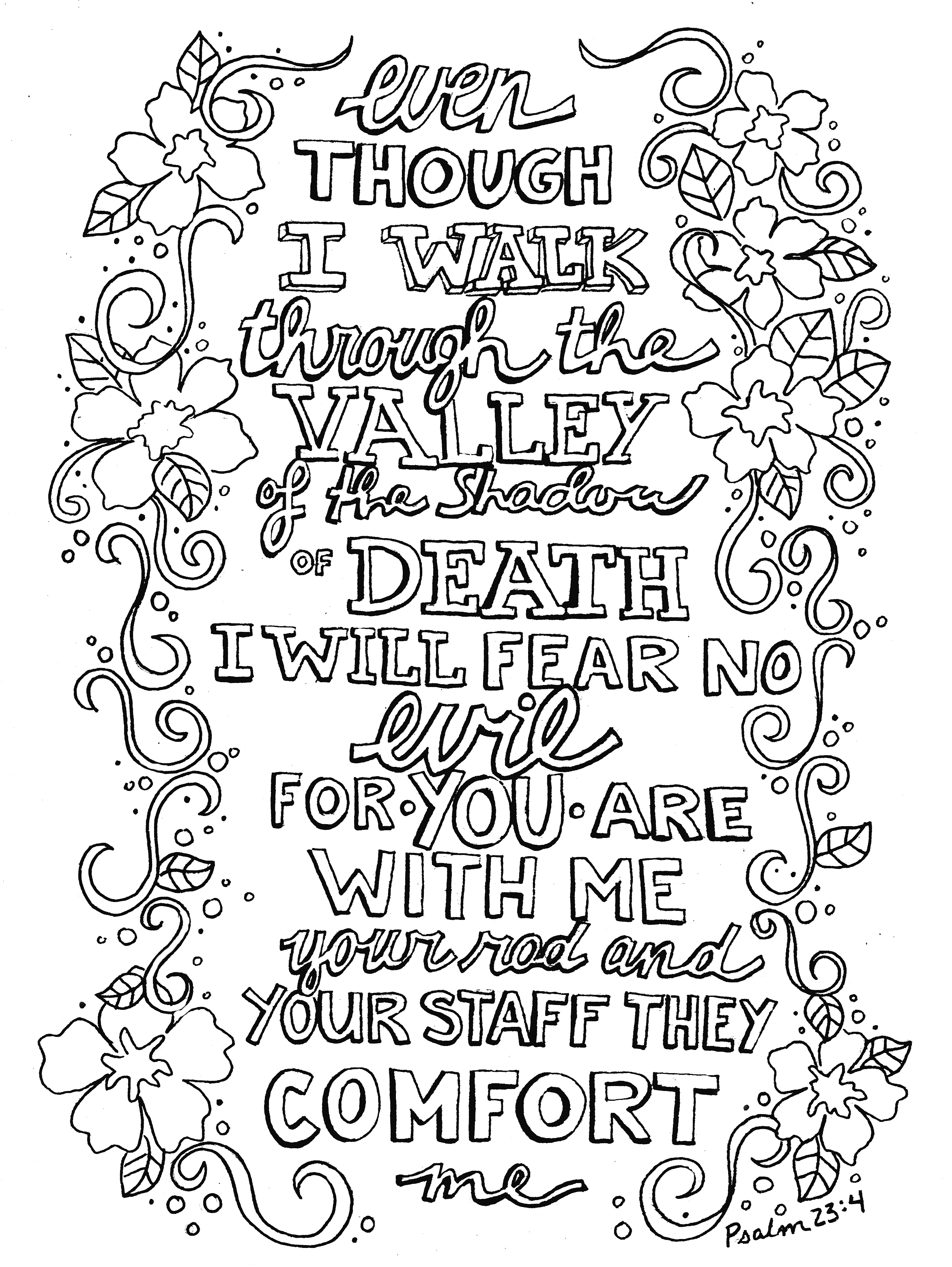 23rd psalm coloring pages Collection-Miracle Psalm 23 Coloring Page 21 FREE COLORING PAGES Part 2 9-o