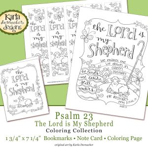 23rd Psalm Coloring Pages - Psalm 23 Coloring Collection 3a