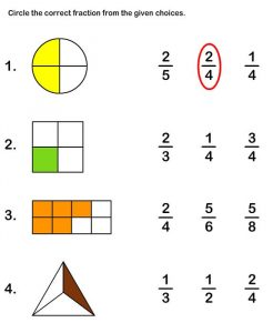 2nd grade math worksheets fractions