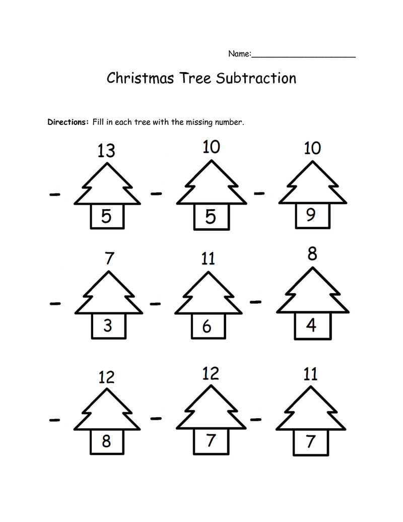3 Addends Worksheet Christmas