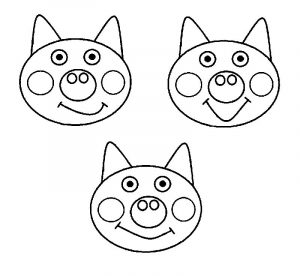 3 little pig templates coloring pages
