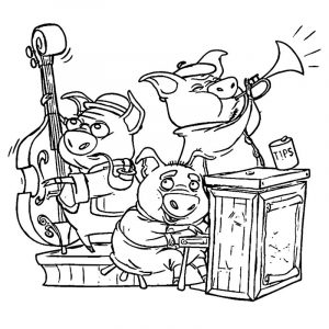3 little pigs vanhoozer coloring pages