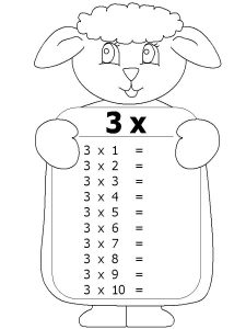 3 times table worksheets children