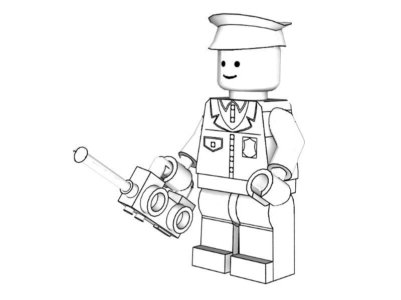 3d Lego Police Coloring Pages Coloring Sheets