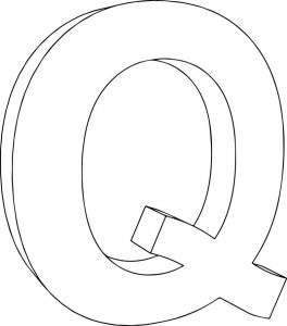 3d q character coloring page