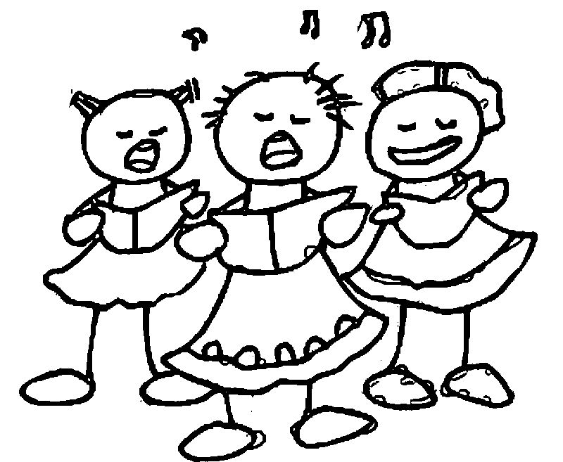 3rd Girls Song Grade Coloring Page