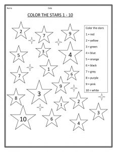 4 year old worksheets coloring number