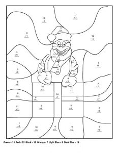 4th grade math worksheets christmas