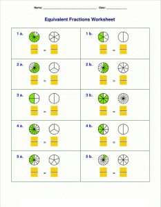 4th grade math worksheets fractions