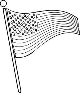 4th july free flag coloring page