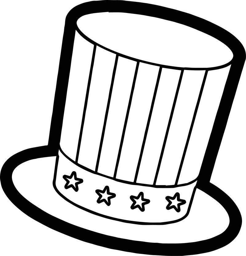 4th Of July Best Hat Coloring Page