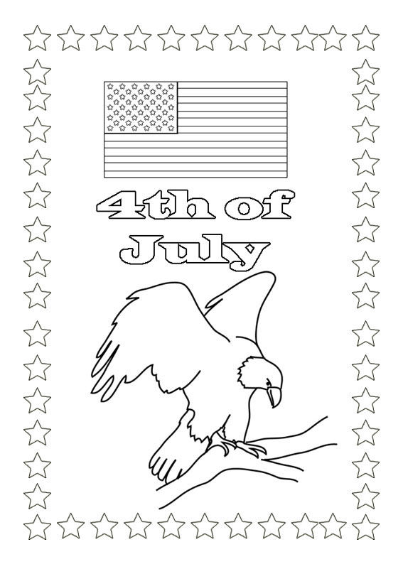 4th Of July Coloring Pages Patriotic Eagle