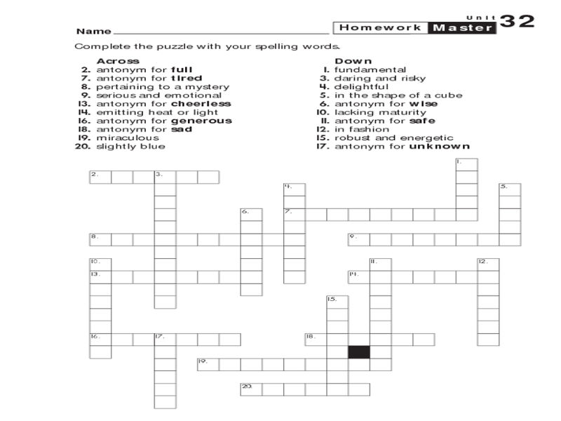 6th Grade Worksheets Puzzle 001