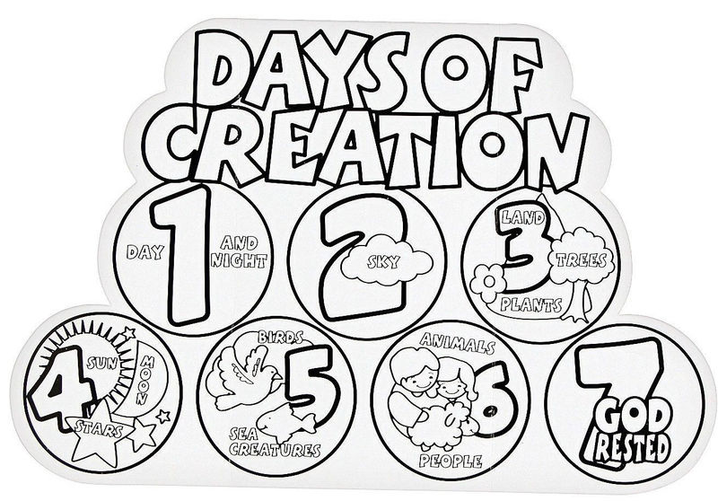 7 Days Of Creation Coloring Page