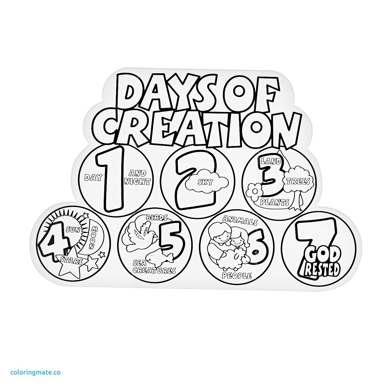 7 days of creation coloring pages free Collection-Seven Days Creation Coloring Pages Best Beautiful Days Creation Coloring Pages Ruva Seven Days Creation Coloring Pages Fresh 7 Days Creation 4-r