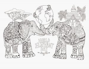 7 Days Of Creation Coloring Pages Free - 12 Days Christmas Coloring Pages World Elephant Day Elephants Adult Coloring Pages 9h