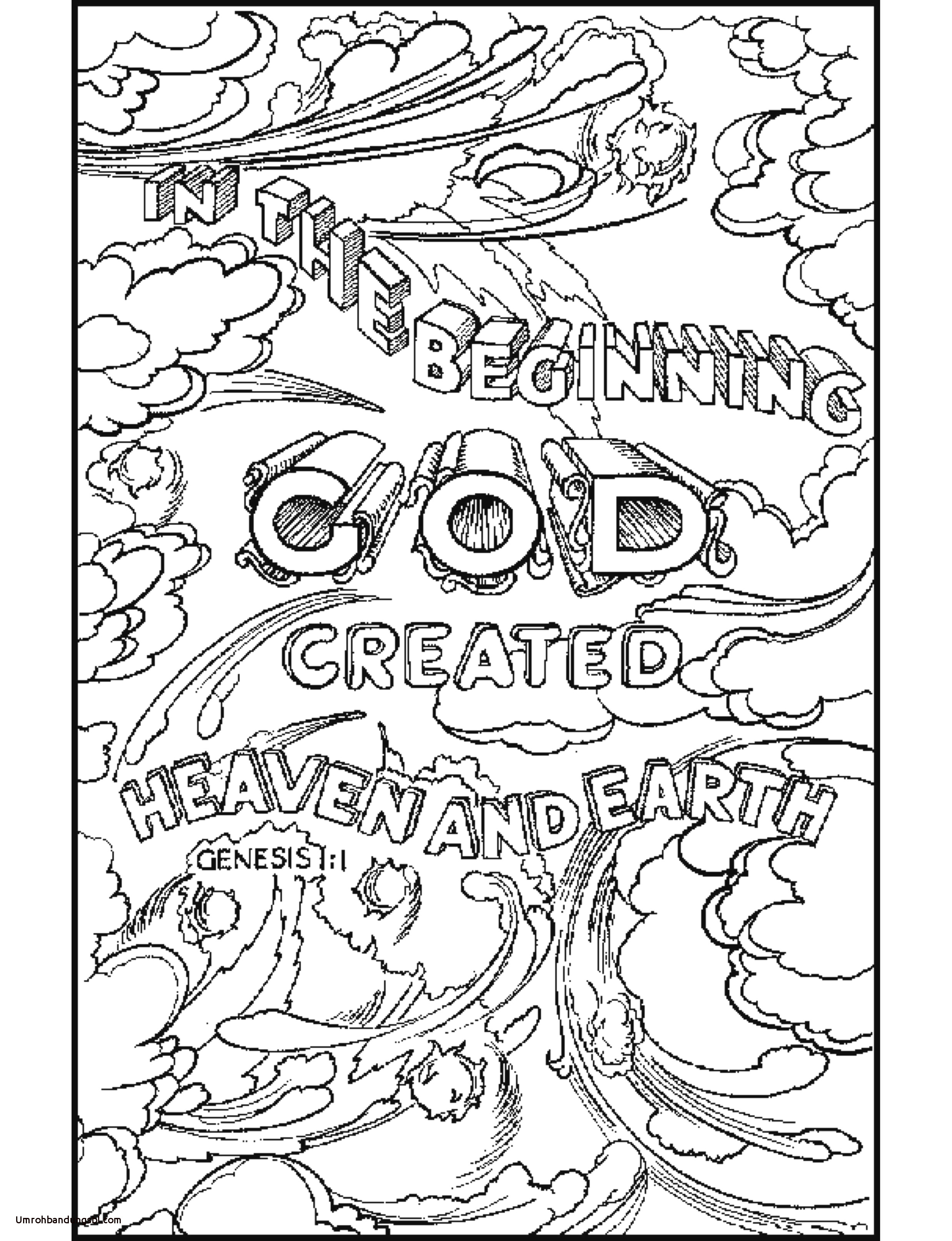 28 7 Days Of Creation Coloring Pages Free Gallery - Coloring ...