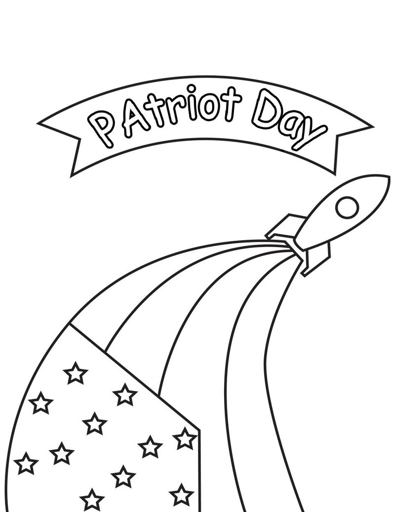 9 11 Patriot Day Coloring Page