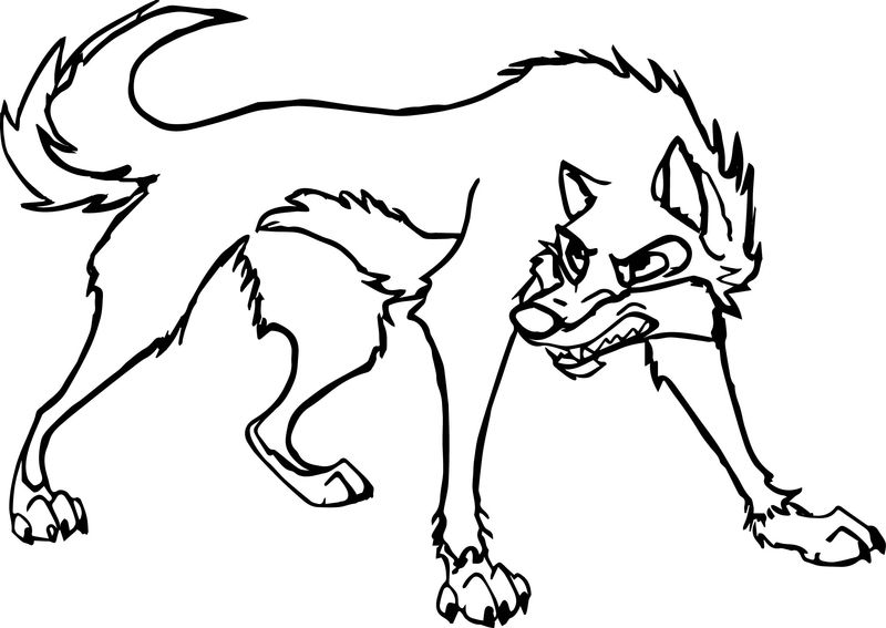 A Balto Pic Wolf Coloring Page
