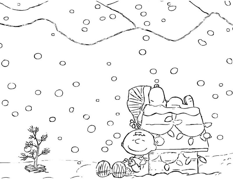 A Charlie Brown Christmas Coloring Page