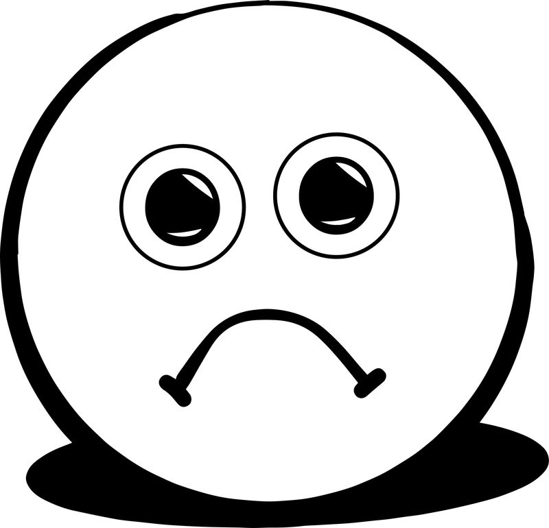 A Sad Face Coloring Page