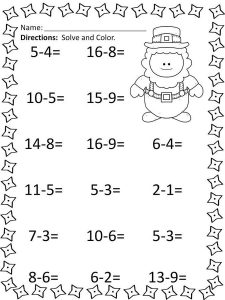 Aaa math worksheets activity