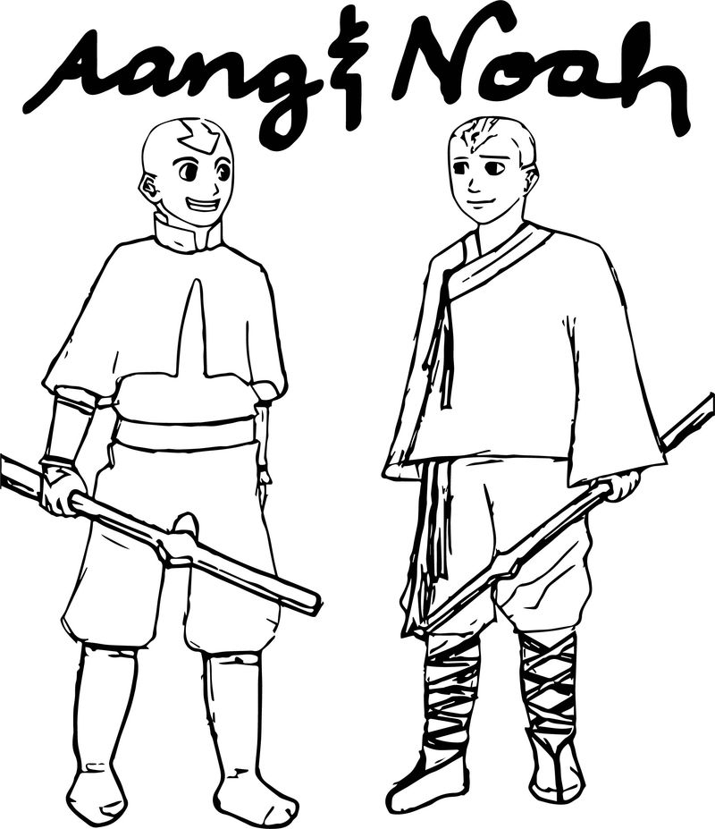 Aang And Noah Suzettergreinwich Avatar Aang Coloring Page