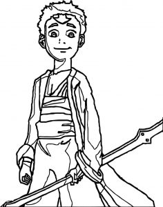 Aang avatar the last airbender recca coloring page