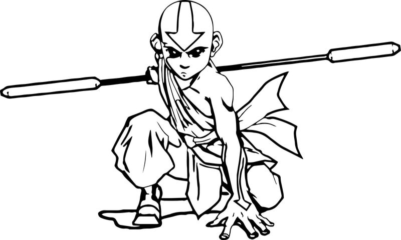 Aang Avatar The Last Airbender X Avatar Aang Coloring Page 2141452