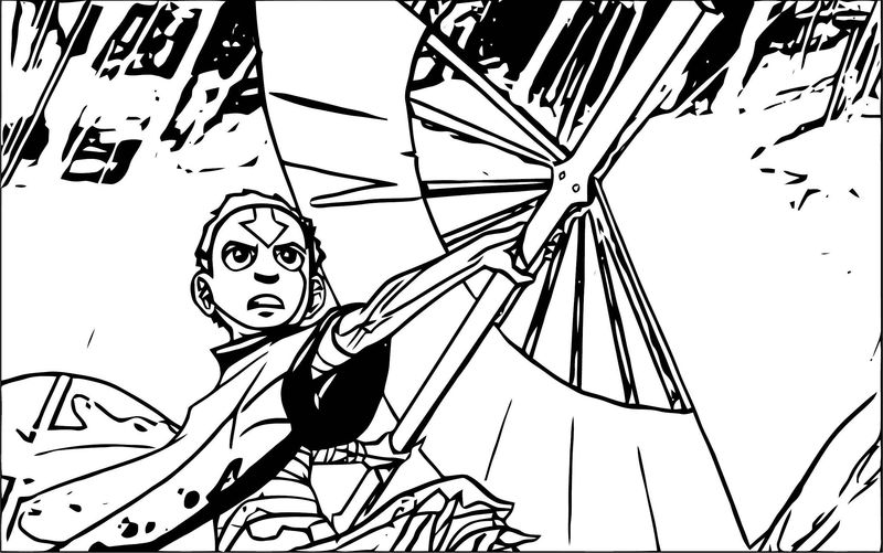 Aang Avatar The Last Airbender X Avatar Aang Coloring Page