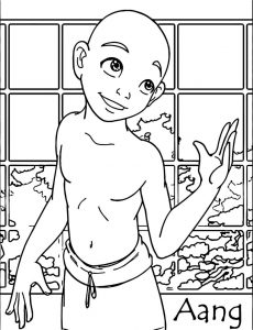 Aang colored amiraelizabeth avatar aang coloring page