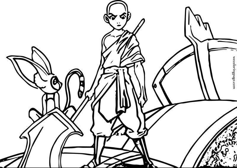 Aang Determined Avatar Aang Coloring Page