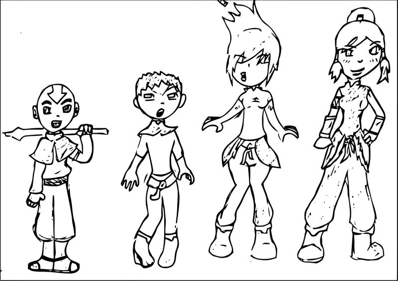 Aang Into Korra Transformation Tgcannon Dlhq Avatar Aang Coloring Page