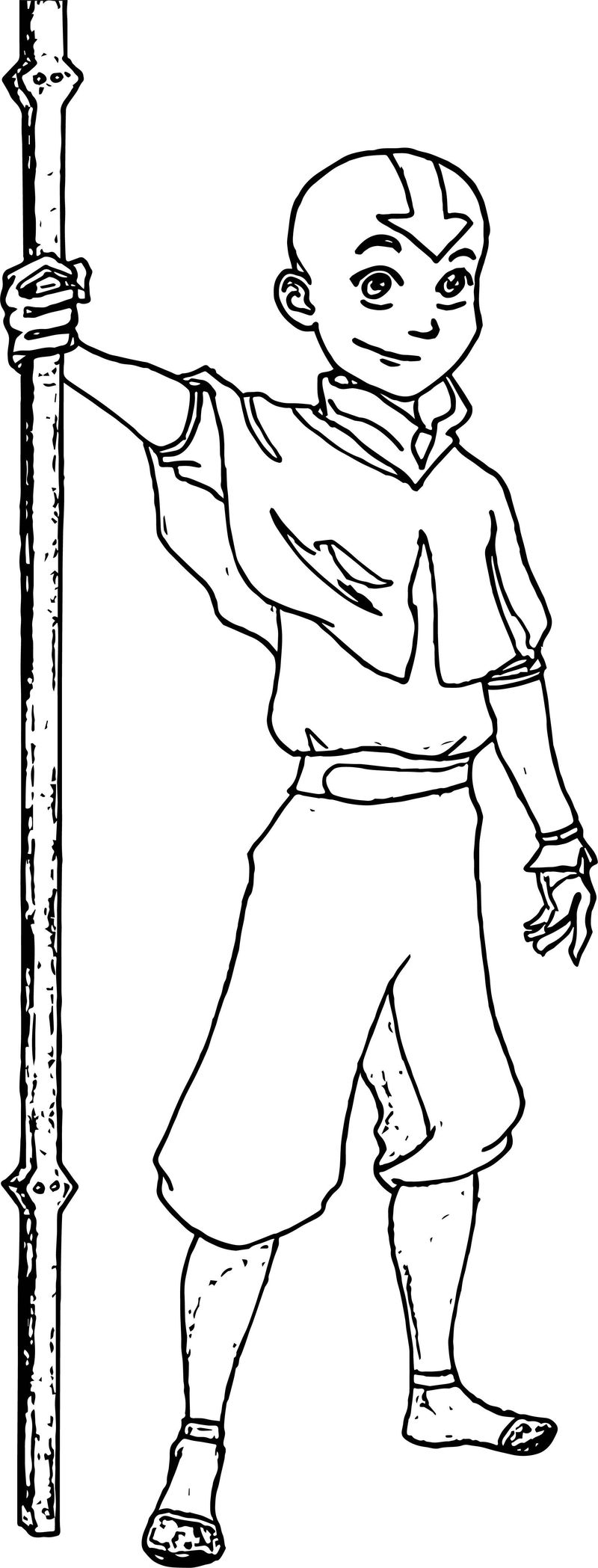 Aang The Avatar From Avatar The Last Airbender Ruthmohan Avatar Aang Coloring Page